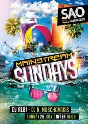 Mainstream Sundays στο Sao Beach Bar