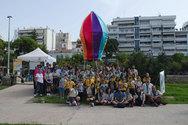 Πάτρα - Ένα τεράστιο πολύχρωμο αερόστατο στην πλατεία Υψηλών Αλωνίων (pics)