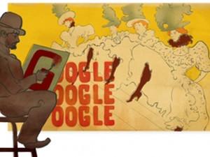 Η Google αφιερώνει το σημερινό doodle στον διάσημο καλλιτέχνη, Ανρί ντε Τουλούζ Λωτρέκ (pics)