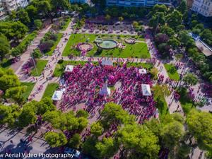 Το Pink the City από ψηλά - Η Πάτρα έκανε
