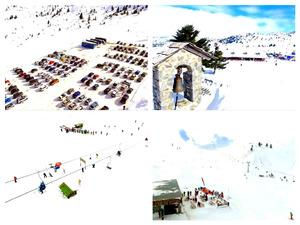 Πτήση πάνω από το κατάλευκο Χιονοδρομικό Κέντρο Καλαβρύτων (video)