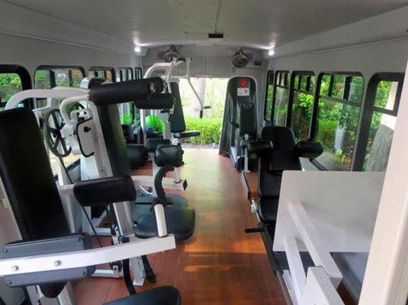 Ένα γυμναστήριο εν... κινήσει (pics)