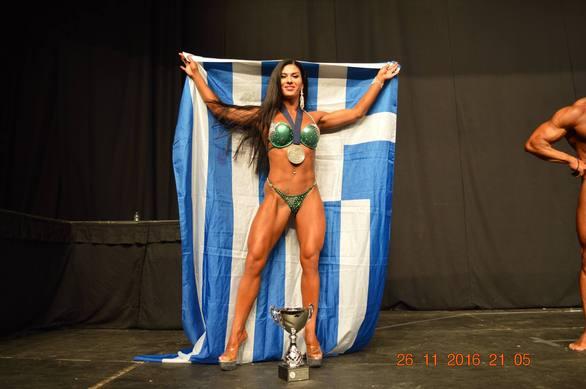19χρονη Πατρινή κατέκτησε την 2η θέση στο παγκόσμιο πρωτάθλημα Bodybuilding, στο Λονδίνο (pics)