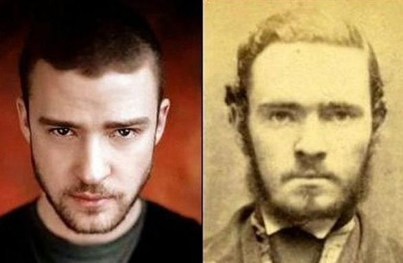 Ο Justin Timberlake και ένας άγνωστος από το 1800
