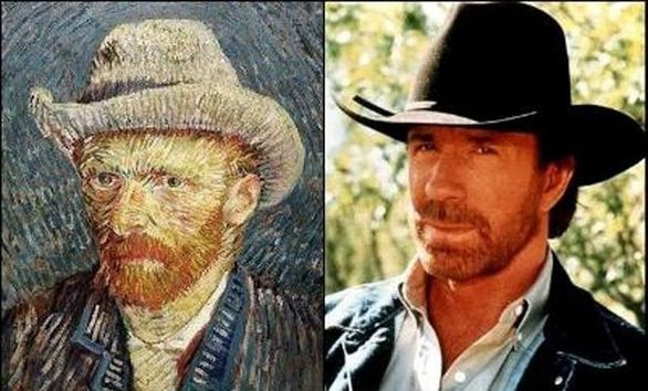 Ο Chuck Norris λατρεύει μάλλον τον Vincent VanGogh