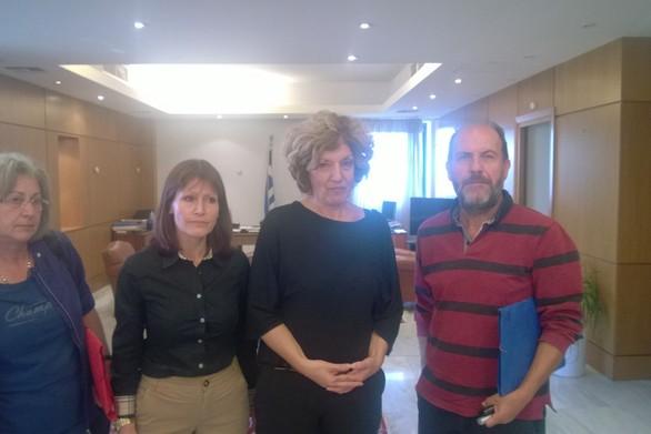 Τριμερής σύσκεψη του Εργατοϋπαλληλικού Κέντρου Πάτρας με την Σία Αναγνωστοπούλου
