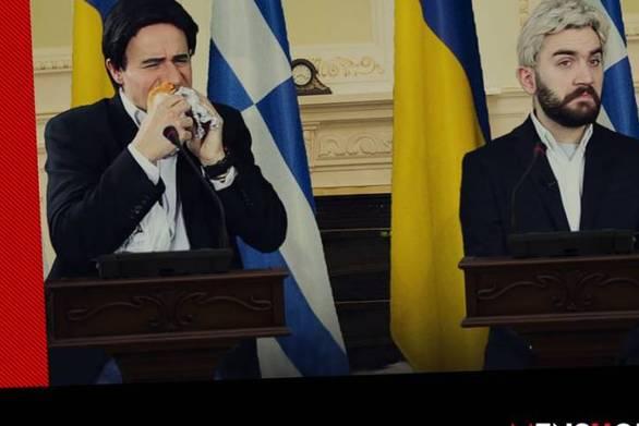 Επικός Μητσικώστας - Έβγαλε πιτόγυρα στη συνέντευξη Τύπου ο Αλέξης Τσίπρας (video)
