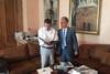 Συνάντηση του Δημάρχου Καλαβρύτων Γ. Λαζουρά με τον Γιώργο Καμίνη