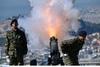 Εντυπωσιακές εικόνες στο πυροβολείο του Λυκαβηττού