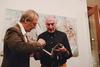 O σπουδαίος Franco Murer στα εγκαίνια της έκθεσής του, 'Ο Θερβάντες στη Ναυμαχία της Ναυπάκτου'!
