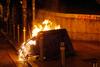 Πάτρα: Φωτιά σε κάδους της Έλληνος Στρατιώτου