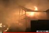 Μεγάλη πυρκαγιά ξέσπασε σε αποθήκη χαρτικών στο Μενίδι