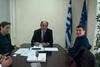 Ο χρυσός πρωταθλητής ενόργανης Νίκος Ηλιόπουλος στο γραφείο του Απ. Κατσιφάρα