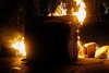 Πάτρα: Ξέσπασε φωτιά σε κάδους απορριμμάτων