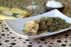 Ψαρονέφρι με μανιτάρια και σάλτσα κρασιού