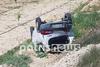 Τροχαίο στον Πύργο - Αυτοκίνητο τούμπαρε και κατέληξε σε χωράφι (φωτο)