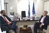 Πάτρα: O Νεκτάριος Φαρμάκης συναντήθηκε με τον Αμερικανό Πρέσβη Τζέφρι Πάιατ (pics+video)
