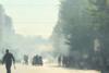 Επεισόδια έξω από την ΑΣΟΕΕ: Καίνε κάδους στην Πατησίων