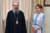 Πάτρα: Η Χριστίνα Αλεξοπούλου επισκέφθηκε τον Μητροπολίτη Χρυσόστομο