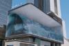 Ένα εντυπωσιακό τεράστιο «κύμα» μέσα σε κτίριο (video)