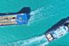 Ελαφόνησος: Η συνάντηση δύο πλοίων που κόβει την ανάσα (video)