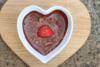 Μους σοκολάτας σε σχήμα καρδιάς