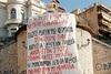 Το τεράστιο πανό που κρέμασαν οι φοιτητές της Πάτρας για την πορεία τους