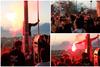 Πάτρα: Κόσμος στις σκάλες της Αγίου Νικολάου - Άναψαν καπνογόνα και πέταξαν βεγγαλικά (video)