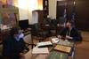 Συνάντηση Πελετίδη - Πέτσα: Τέθηκαν στο τραπέζι σημαντικά ζητήματα της πόλης
