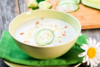 Kρύα σούπα με αγγούρι