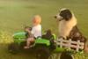 Μικροσκοπικός αγρότης πάει βόλτα το σκύλο του (video)