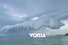 Βίντεο από την καταιγίδα στη Χαλκιδική: Σύννεφο «έγινε ένα» με τη θάλασσα
