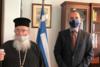 Συνάντηση Υφυπουργού Εξωτερικών, Ανδρέα Κατσανιώτη, με τον Αρχιεπίσκοπο Σινά, Φαράν και Ραϊθώ, κ. Δαμιανό