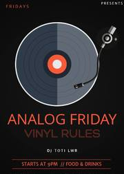 Analog Friday Vinyl Rules at Bb King