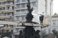 Πάτρα: Καθαρίστηκαν τα συντριβάνια στην πλατεία Γεωργίου (pics)