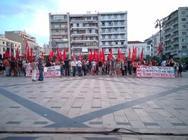 Πάτρα: 'Όχι και στα δύο μνημόνια' - Το μήνυμα του ΚΚΕ για το δημοψήφισμα
