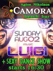 Dj Luigi στο Camora Beach Bar