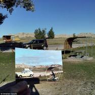 Ταξιδεύει και φωτογραφίζει τα ίδια μέρη που είχε πάει και ο παππούς του! (pics)