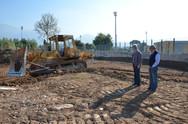 Πάτρα: Ξεκίνησαν οι εργασίες για το πάρκο πέριξ του Παμπελοποννησιακού Σταδίου (pics)
