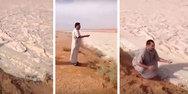 Ποτάμι άμμου από χαλάζι στη Σαουδική Αραβία (video)