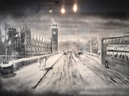Παράθυρα που γίνονται καμβάδες και ζωγραφίζονται με σπρέι χιονιού (pics)