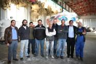 Πάτρα: Ο Κώστας Πελετίδης επισκέφθηκε το Καρναβαλικό Συνεργείο (pics)