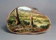 Μοναδικές ζωγραφιές πάνω σε κορμούς δέντρων (pics)