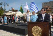 Πάτρα: Η ομιλία του Κώστα Πελετίδη στην υποδοχή της Ολυμπιακής Φλόγας (pics)