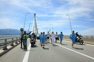 Όταν η Ολυμπιακή Φλόγα διέσχισε την Γέφυρα Ρίου - Αντιρρίου! (pics+video)