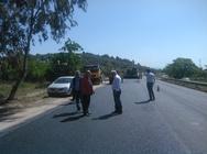 Αυτοψία στις εργασίες συντήρησης του εθνικού οδικού δικτύου της Π.Ε. Αιτωλοακαρνανίας (pic)