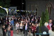 Πλήθος πιστών στην Ανάσταση στο Τρίκορφο Ναυπακτίας (video)