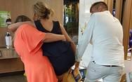 Πελάτισσα εστιατορίου κόλλησε στο πιο απίθανο μέρος (video)