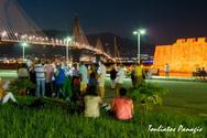 Οι Πατρινοί διέσχισαν την Γέφυρα Ρίου - Αντιρρίου υπό το φως της Πανσελήνου! (pics)