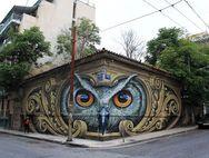 To γκράφιτι στο Μεταξουργείο της Αθήνας που έγινε παγκόσμιο Viral